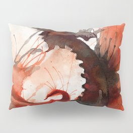 Ink Dragon Red Pillow Sham