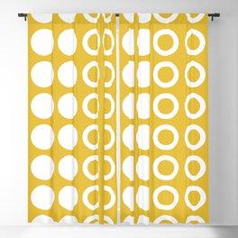 Mid Century Modern Circles And Dots Mustard Yellow 2 Blackout Curtain