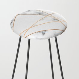Marble Geometry 054 Counter Stool