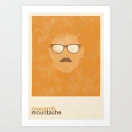 Monarch Moustache Art Print