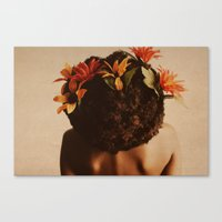 afro Canvas Prints featuring Growth by StudioArielle.com