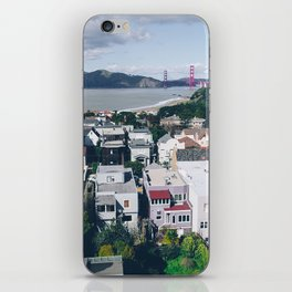 View of The City from above my Friends Apartment iPhone Skin