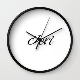 Name Jeri Wall Clock