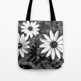 Three Gloriosa daisies B&W Tote Bag