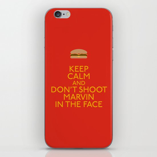 Don't shoot marvin in the face iPhone & iPod Skin