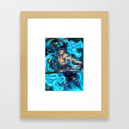 hanzo over Framed Art Print