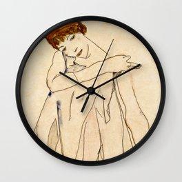 Egon Schiele - The Dancer 1913 Wall Clock
