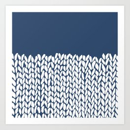 Half Knit Navy Art Print