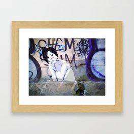 Tatoo on the wall Framed Art Print