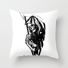 THE GRIM REAPER MR DEATH Throw Pillow