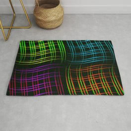 Abstract set of patterns from smooth intersecting lines. Rug
