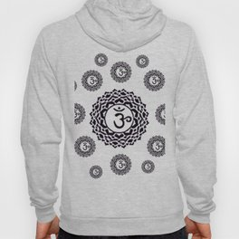 "BLACK SANSKRIT CHAKRAS  PSYCHIC WHEEL ""KNOW"" Hoody"