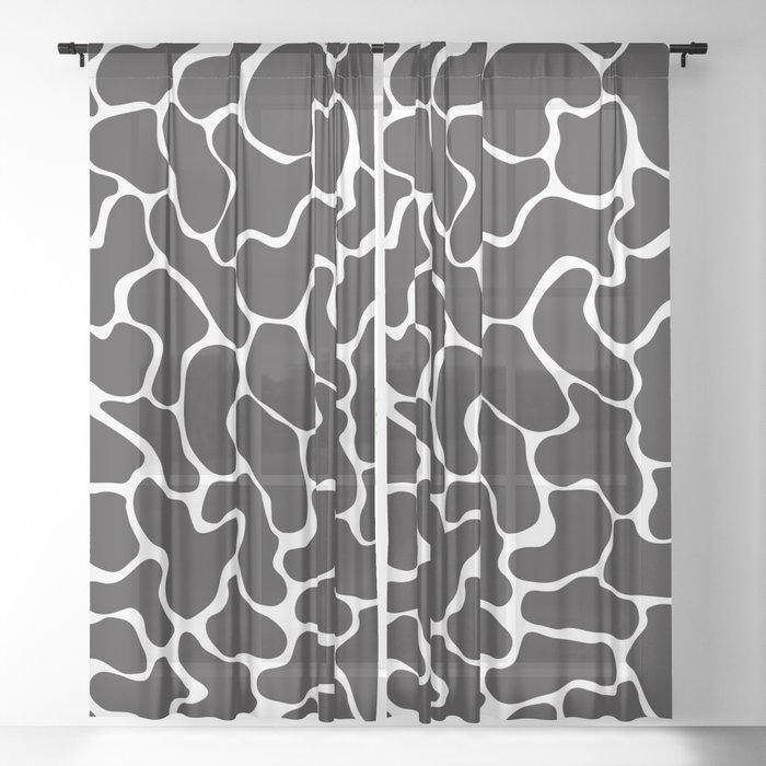 80s Memphis Cow Sheer Curtain