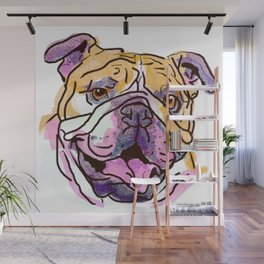 The Bully is the happy Love of my Life! Wall Mural