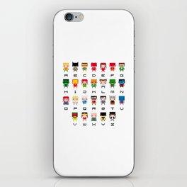 Superhero Alphabet iPhone Skin