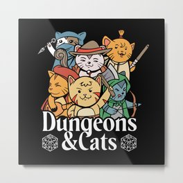 Dungeons and Cats Metal Print