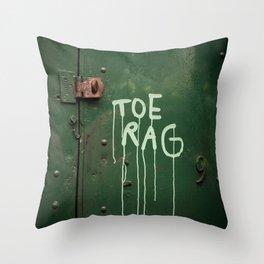 Toe Rag Throw Pillow