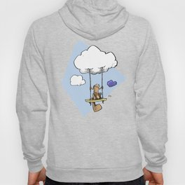 Squirrel swinging on a cloud Hoody
