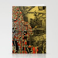 chicago map Stationery Cards featuring chicago by Bekim ART