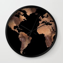 World Map Silhouette - Cookie Wall Clock