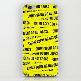 Crime Scene Tape Pattern iPhone Skin