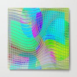 Re-Created Function f(x) No. 14 by Robert S. Lee Metal Print