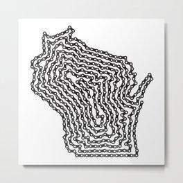 Bike Wisconsin - Black Metal Print