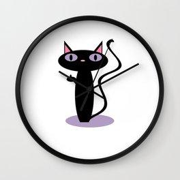 Standing Birdie Cat Wall Clock
