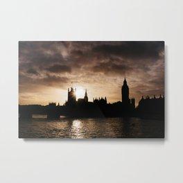 View over Westminster, Big Ben, London at Sunset Metal Print