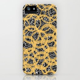 Abstract Beehive Yellow & Black Pattern iPhone Case