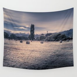 Field Of Hay Bales Wall Tapestry