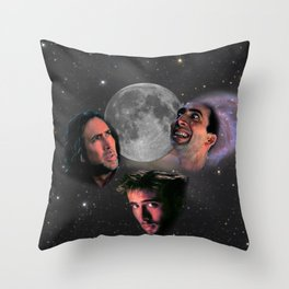 3 Cage Moon Throw Pillow