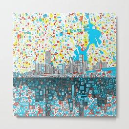 houston city skyline Metal Print