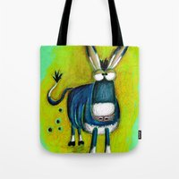 donkey Tote Bags featuring Donkey by t i t i l l a