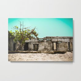 Ghanaian Beach House Metal Print