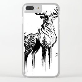 Needles & Antlers Clear iPhone Case