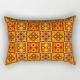 Heart of Africa Kente Cloth Pattern Print Rectangular Pillow
