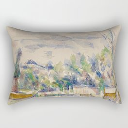 The Terrace at the Garden at Les Lauves Rectangular Pillow