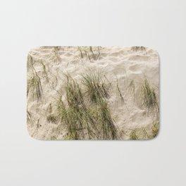 Sandy Beach With Grass Weeds Bath Mat