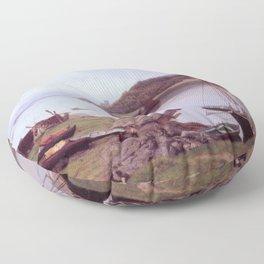 Hans Gude Painting -  Oban Bay Skottland 1889  | Reproduction | Norwegian Art Floor Pillow