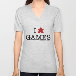 I Meeple Games Unisex V-Neck
