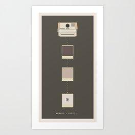 Analog vs. Digital (round I)  Art Print