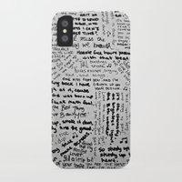 lyrics iPhone & iPod Cases featuring Song Lyrics by Fallon Chase