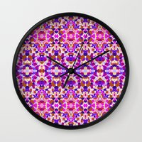 psychedelic Wall Clocks featuring Psychedelic by Isabella Salamone
