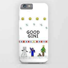 Good Gini ugly Christmas sweater iPhone Case