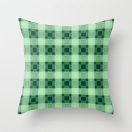 Green plaid Throw Pillow
