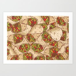 Burritos Art Print