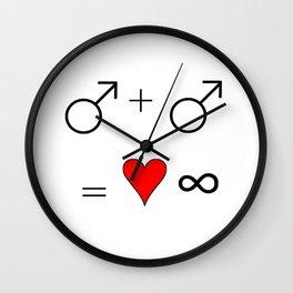 man man 2 Wall Clock