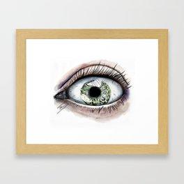 Macro Eye Framed Art Print