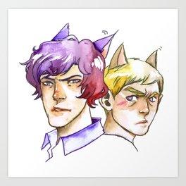 Catlock Art Print
